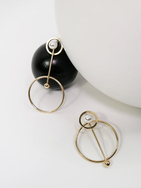 Moda Gold, Earring - WMWATCHME