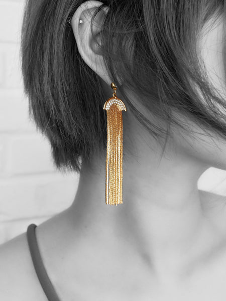 Tan Gold, Earring - WMWATCHME