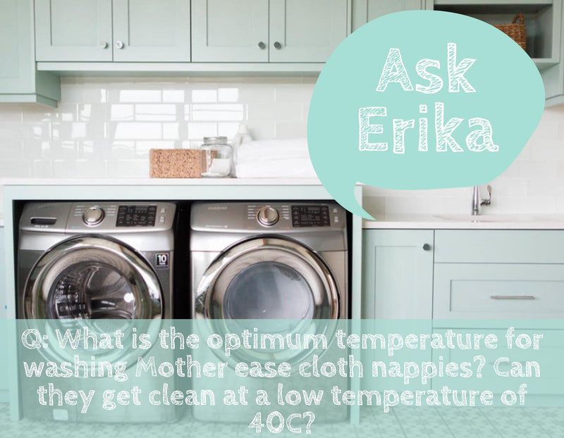 Ask Erika: What is the optimal temperature for washing cloth diapers?