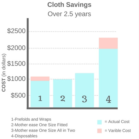 Cloth Savings over 2 1/2 years