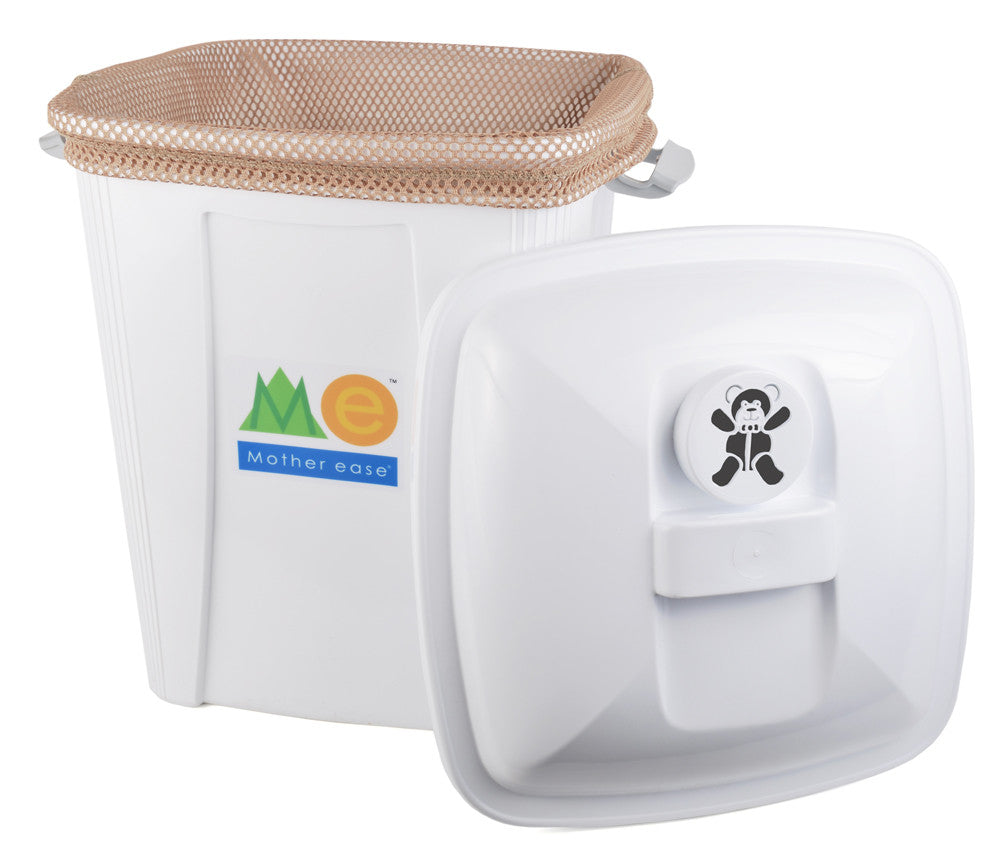Diaper Pail with Beige Pail Liner
