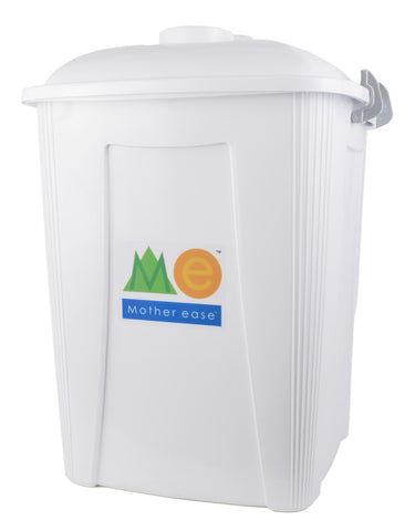 White Diaper Pail Closed Lid