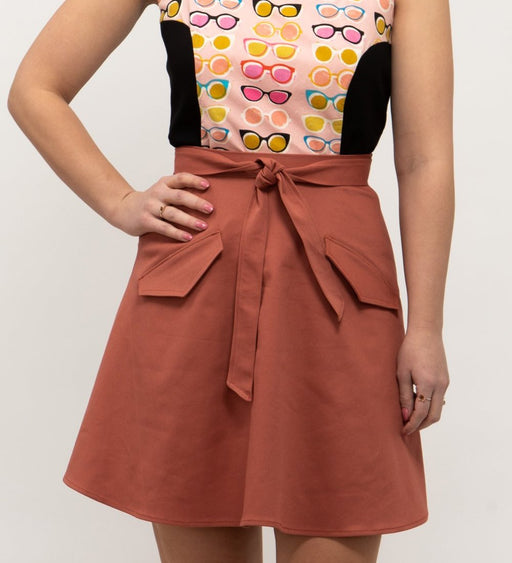 Sunspot Belted Circle Skirt