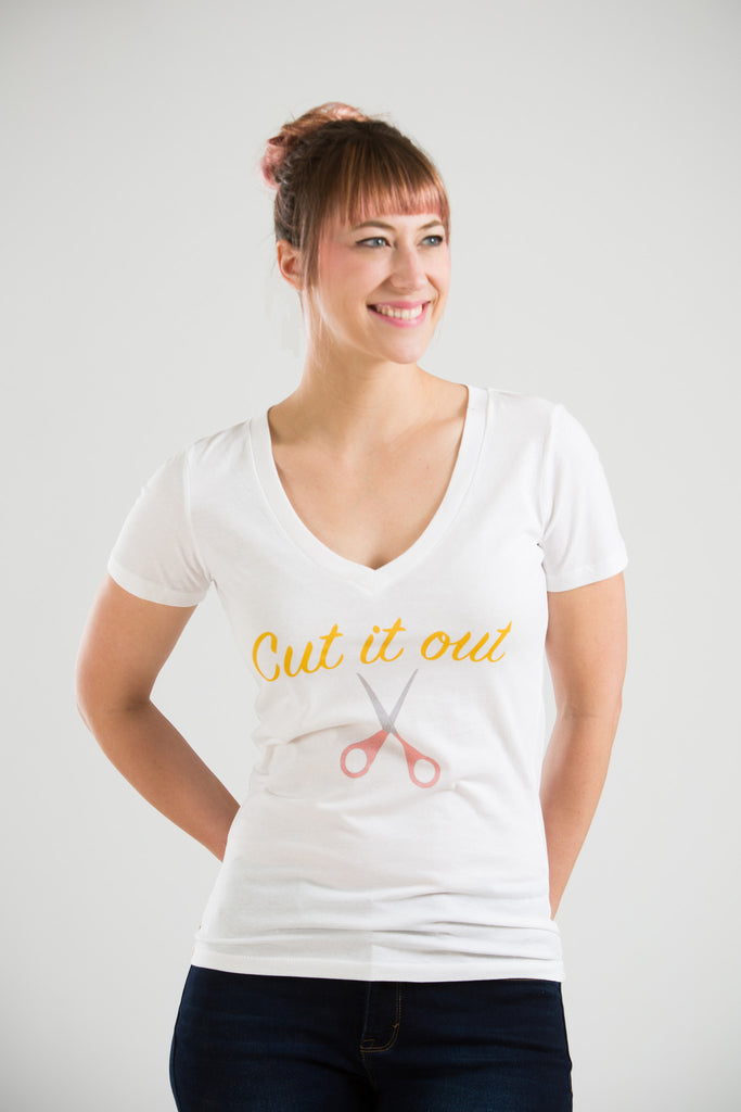 Cut it Out Tee - White