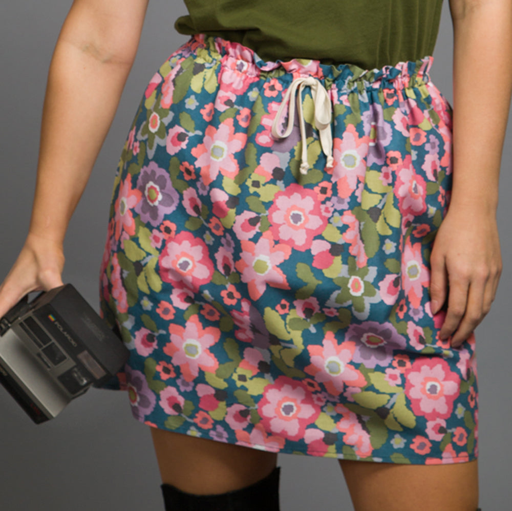 Bloom Gathered Short Skirt, Physical, Mallory