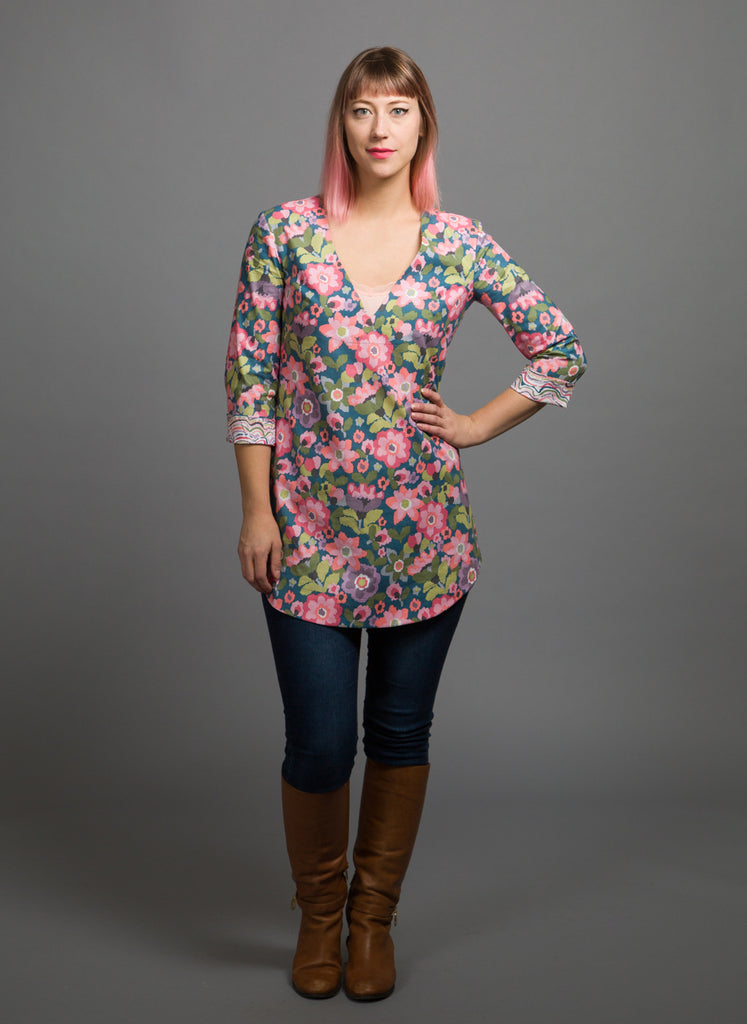 Bloom V-Neck Tunic Dress, Physical, Mallory
