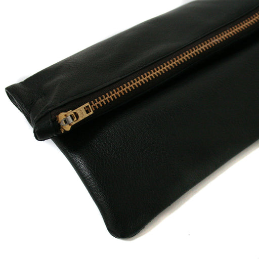 Large Black Leather Pouch, Physical, Mallory