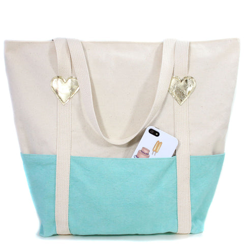 Robins Egg Beach Bag, Physical, Mallory