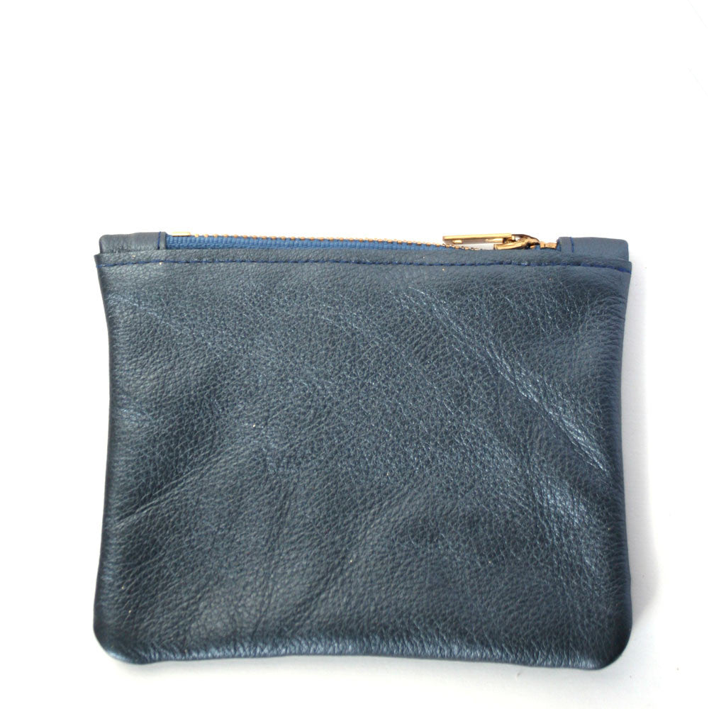 Small Blue Leather Pouch, Physical, Mallory