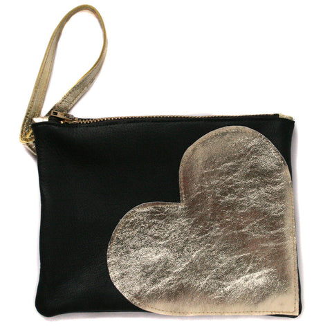 Heart of Gold Wristlet