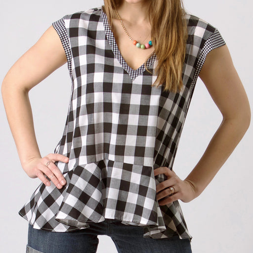 Jacqueline Swing Peplum Top, Physical, Mallory