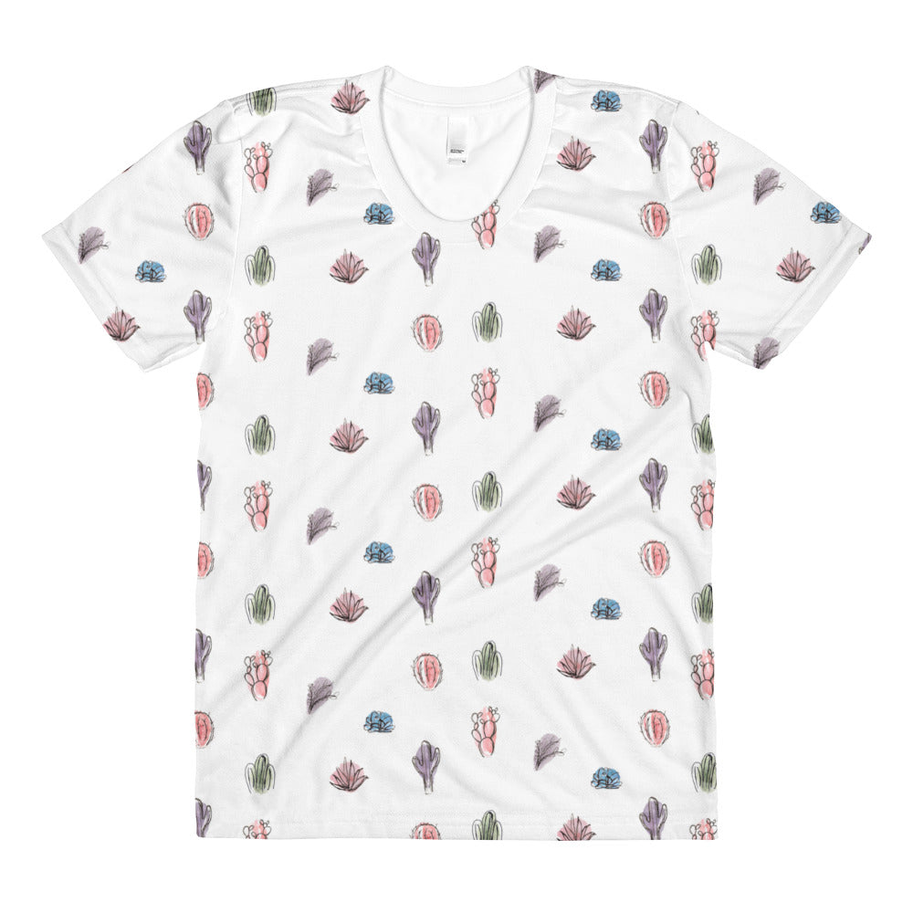 Cactus Watercolor Tee, Physical, Mallory