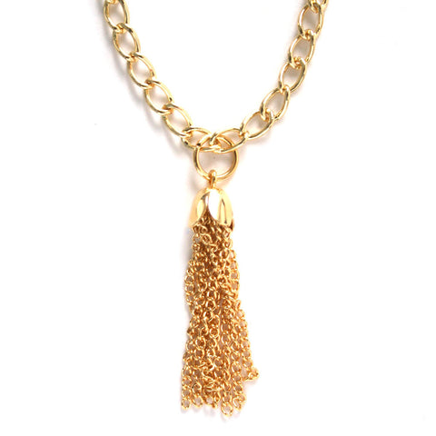 Golden Tassel Necklace, Physical, Mallory