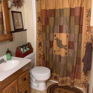 10 Primitive Shower Curtains to Use In Your Bathroom