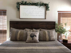 Diy How To Make Your Own Wood Headboard Primitive Star