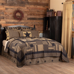 Black Check Star Bedding