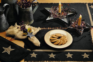 Burlap Star Black Kitchen