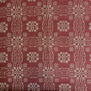 Gettysburg Cranberry and Tan Curtains