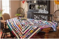 Quilt as tablecloth
