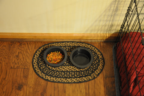 Placemat as pet food mat