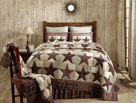Abilene Star quilted bedding