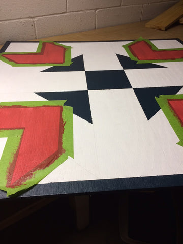 second color on barn quilt