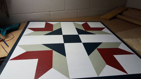 third color on barn quilt