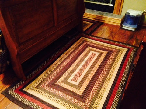 Braided rectangle rug