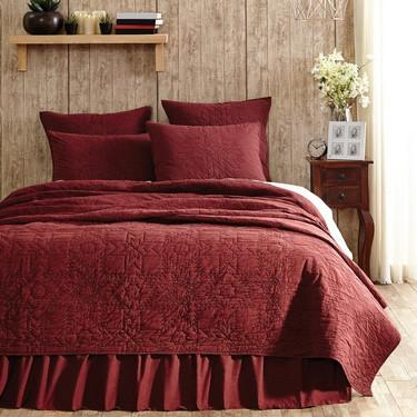 Cheyenne American Red Quilted Bedding