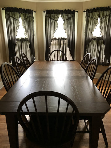 Kettle grove prairie curtains in dining room