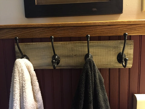 rack with towels