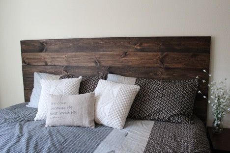 DIY How To Make Your Own Wood Headboard - Primitive Star ...