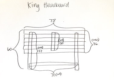 King headboard specifications