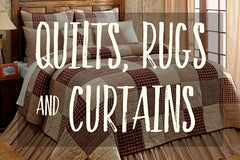 Quilts Rugs and Curtains
