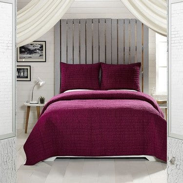 Rochelle Boysenberry Bedding