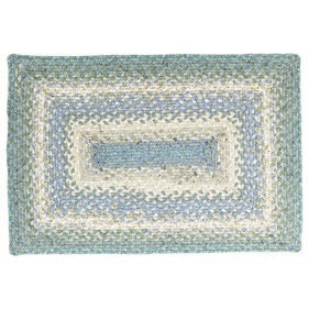 Baja Blue Cotton Braided Rug
