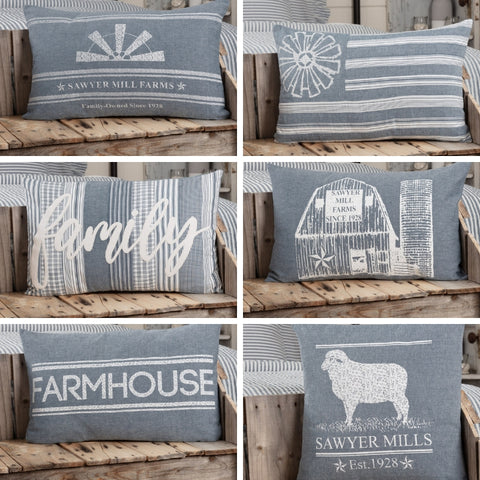 Sawyer Mill Blue Pillows