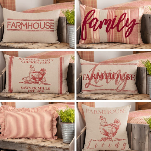Sawyer Mill Red Pillows