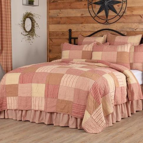 Sawyer Mill Red Patchwork Bedding