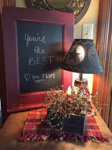 Chalkboard with message for Mom
