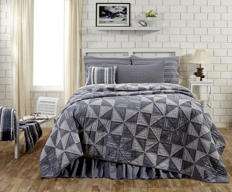 Huron quilted bedding