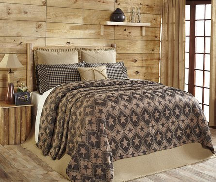 Jefferson Star chenille bedding