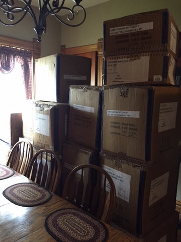 Boxes in dining room