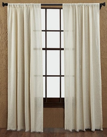 Natural tobacco cloth curtains