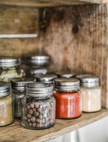Spices in mason jars