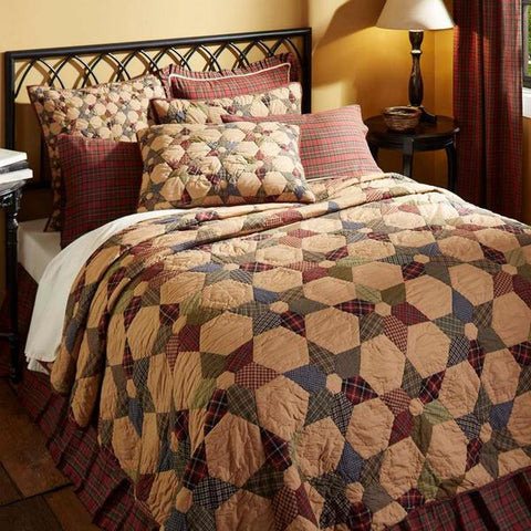 Tea Star Quilted Bedding