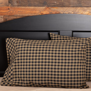 Black Check Standard Pillow Case - Set of 2