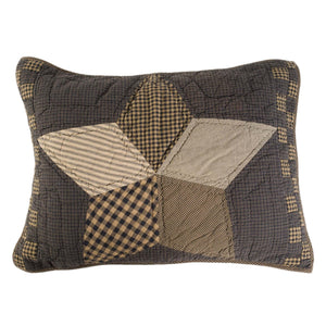 Farmhouse Star Quilted Standard Sham 21x27""