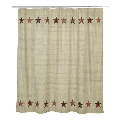 Abilene Star Shower Curtain - Primitive Star Quilt Shop - 1