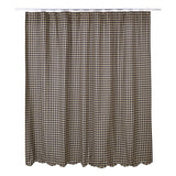 Black Check Scalloped Shower Curtain - Primitive Star Quilt Shop
